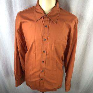 Kenneth Cole Reaction Mens Brown XXL Dress Shirt